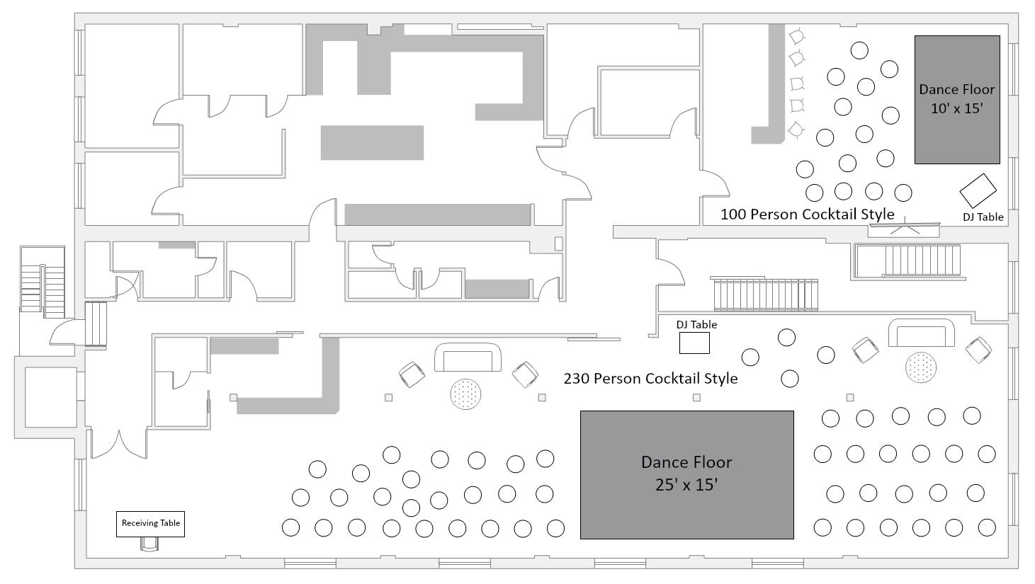 100 100 Event Floor Plan Software Churchill Room Uk